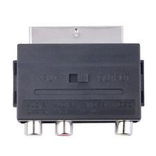 Popular RGB Scart to Composite 3RCA S-Video AV TV Audio Adapter LAJ nb