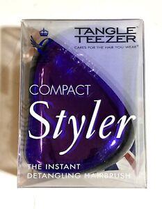Tangle Teezer Men's  Compact Groomer Hair & Beards Brush Detangling British Made