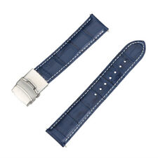 Mens Genuine Leather Watch Strap Band Croco Deployment Clasp Spring Bars 2018 US