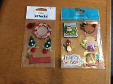 2 Packs of Christmas Embellishments