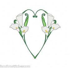 I Love Callas 10 Machine Embroidery Designs on multi-formatted Cd in 5 sizes