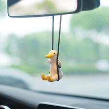 Cute Little Duck Car Pendant Decoration Duck Swing Auto Rearview Mirror Pend Ho