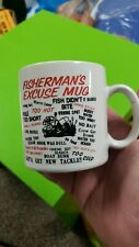 Fisherman'S Excuse Mug  - Coffee Cup 10 oz -  Fishing Sport Gift - Flaming gorge