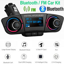 Wireless Bluetooth Handsfree Car Kit Fm Transmitter Aux Audio Usb Mp3 Player Usa