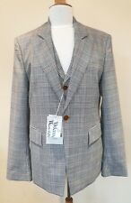 VIVIENNE WESTWOOD Man NEW check Jacket with built in Waistcoat Size 50 R