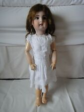 Antique French Bisque SFBJ / Jumeau 1907 Open Mouth 28 inch Size 13,.