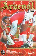 Football Programme - Arsenal v Chelsea - Premiership - 8/2/1998