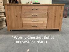 NEW IN BOX: HARDWOOD WORMY CHESTNUT BUFFET SIDEBOARD