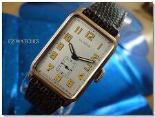 Exquisite 1930sVintage Mans ILLINOIS*FRONTENAC* Hand Wind Stunning Silver Dial