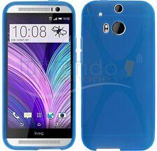 FUNDA de GEL TPU AZUL para HTC ONE 2 M8 en ESPAÑA CARCASA