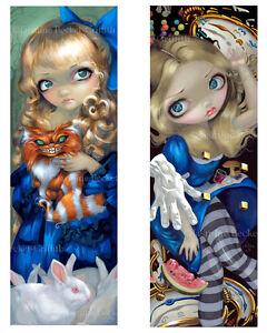 Jasmine Becket-Griffith SIGNED Alice Enchanted & Rabbit Hole 2 BIG art print set