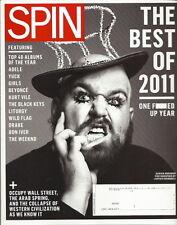 Damian Abraham Spin Magazine Jan 2012 Best of 2011 Adele The Black Keys Drake
