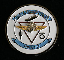 US MARINES AIR STATION MCAS RSU MCI WEST CHALLENGE COIN CACTUS PIN UP MAW GIFT