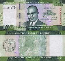 LIBERIA - 100 dollars 2016 FDS - UNC