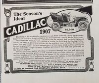 1907 Cadillac Model H Car Art Vintage Print Advertisement