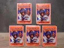 Lot de 5 pochettes de 6 images SAN KU KAI - vintage - No panini