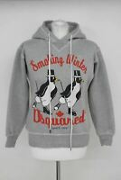 DSQUARED2 Ladies Grey 100% Cotton Smoking Winter Penguin Hoodie Jumper Size M