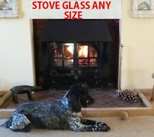 JA010 Replacement Wood Burning Stove Glass - 250mm x 215mm (Shaped)