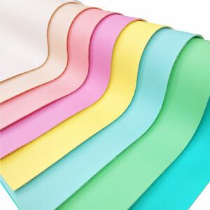 5/8PCS Macarons Colours Faux Leather Fabric Sheets Leatherette For Earring Craft