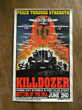 KILLDOZER San Francisco 1994 ORIGINAL POSTER KOZIK SIGNED & Numbered SILKSCREEN
