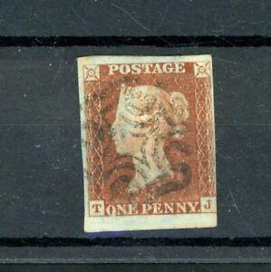GB 1841  Penny Red from Black Plate 10,  Maltese Cross Postmark    (S449)