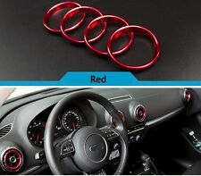 Pour audi A3 8V 2012-2015 acier inoxydable air vent outlet ring cover red uk stock