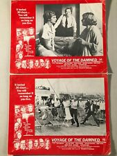 2 Original Lobby Cards 11x14: Voyage of the Damned (1976) Faye Dunaway