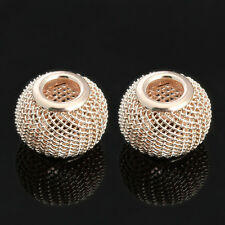 10pcs/lot Gold Silver Plated Mesh Spacer Beads Fits DIY Bracelet Jewelry Making