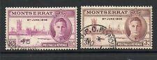 montserrat 1946 victory fine used set stamps