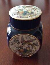 Carlton Ware Navy Blue Square Ginger Jar