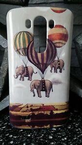 Coque Plastique Souple Housse Etui LG G3 MONTGOLFIERE Elephant