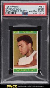 1967 Panini Campioni Dello Valida Boxing Cassius Clay Muhammad Ali PSA 2(mc) GD