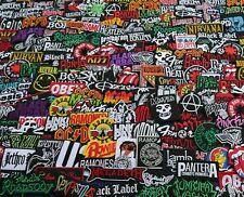 Lot 25 Iron On Patch Sew Music Band RANDOM Metal Punk Rock n Roll DIY #25