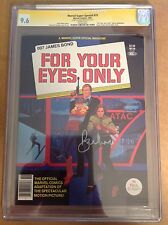CGC 9.6 SS Marvel Super Special #19 For Your Eyes Only signed by Roger Moore 007