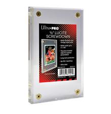 "Ultra Pro 1/2"" Half Inch Lucite Brick 4-Screw Card Holder Acrylic Display Slab"