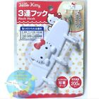 SANRIO HELLO KITTY KAWAII Adhesive Tape Triple Hanger Hook Storage AIRMAIL JAPAN