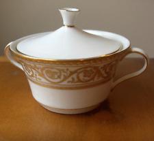 Castletown China USA GOLDEN SCROLL covered sugar bowl~circa 1970~pristine-NR