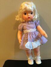 Doll Terri Lee Beautiful Platinum Raysheen Wig Tagged Dress 1950's