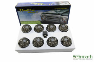 LAND ROVER DEFENDER 90 / 110 SMOKED LED LAMPS KIT 73 MM LED STYLE LIGHT (BA9720)