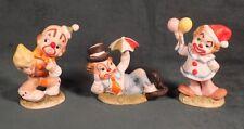 Lefton Clown Figurines Set Carnival 02356
