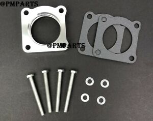 Silver Throttle Body Spacer for 91-99 Mitsubishi 3000GT 3.0L 6G72/ 00-04 Eclipse