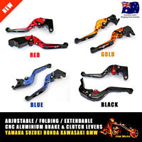 CNC Adjustable Folding Brake Clutch Lever Set Yamaha YZF R1 04-08 YZF R6 05-14