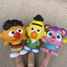 3x Fisher Price Little People Mattel Sesame Stree Bert & Ernie & Abby Xmas Toy