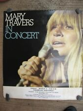 ULTRA SCARCE / VINTAGE / MARY TRAVERS 1973 PORTLAND OREGON CONCERT POSTER
