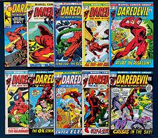 Daredevil #80-#89 , Marvel Comics Bronze Age Lot!