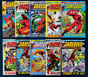 Daredevil #80-#89 , Marvel Comics Bronze Age Lot!!