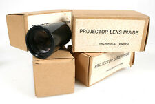 5 INCH FOCAL LENGTH PROJECTOR LENS, SET OF 4 IN ORIG. BOXES