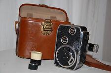 caméra ancien bolex paillard C8 dans sacoche étui d'origine rare