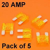 High Quality 5 x 20 Amp Maxi Blade Fuse Fuses Yellow 20A Car Van Bike Large Fuse
