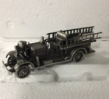 Franklin Mint Pewter Fire Engines of the World Fire Truck NIB